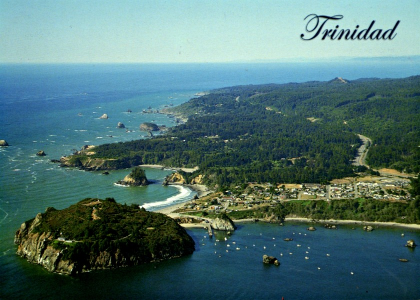 postcard a California Trinidad