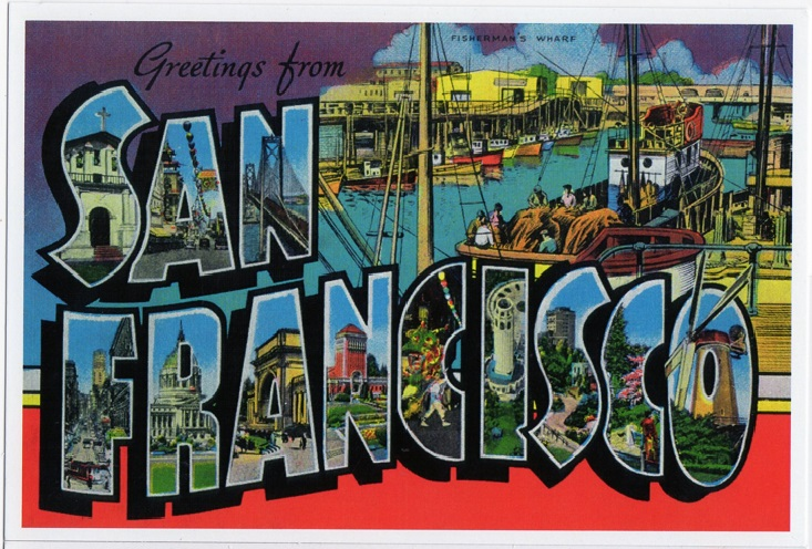 postcard a California San Francisco