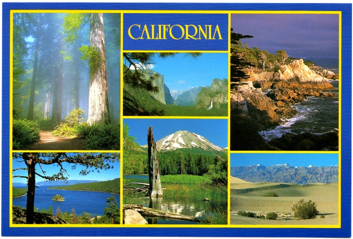 postcard a California 4