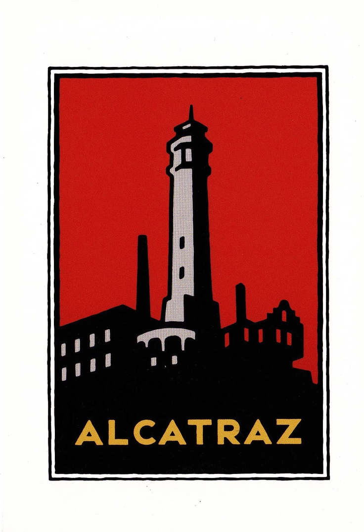 Postcard a Golden Gate National Parks Alcatraz