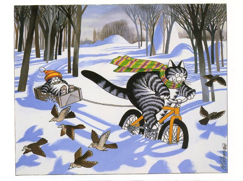 kliban snow cats