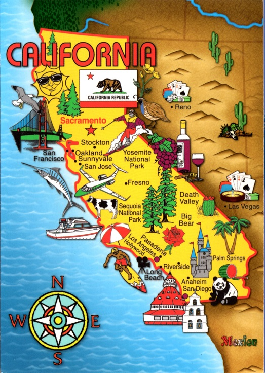 California Map w cow panda Reno LV