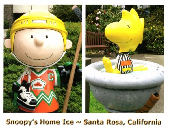 Peanuts Snoopys Home Ice statues